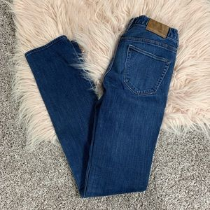 Madewell rail straight skinny jeans dark wash 24